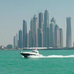 heading into the Dubai Marina