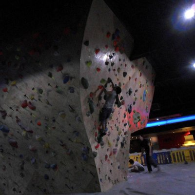 Climbing in the adult and big kids area