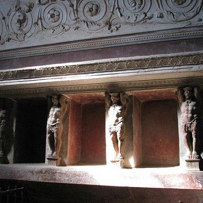 Forum Baths of Ancient Pompeii - boxes for clothes