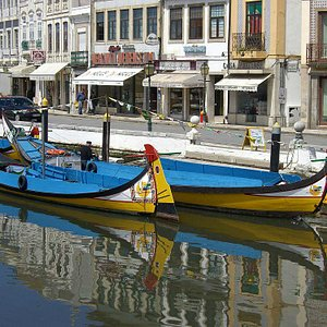 Typical Aveiro canal boats