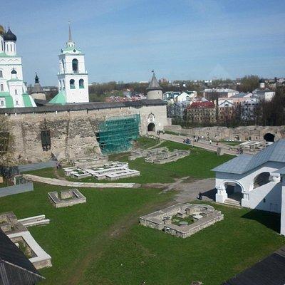 Кремль и город с высоты сторожевой башни