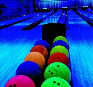 UV Lit Bowling Alley