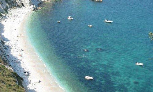 "The famous beach of ""le due sorelle"" (2 sisters)"
