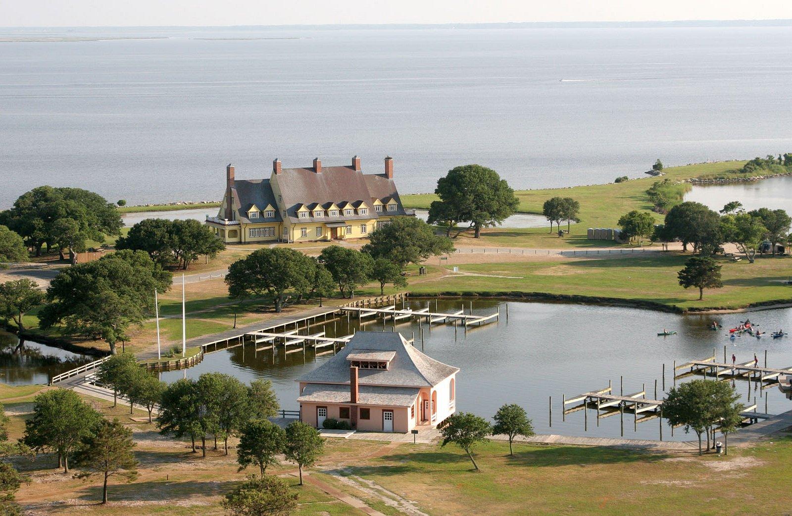 Whalehead in Historic Corolla and boathhouse