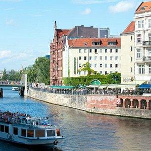 The River Spree - Nicholas Quarter (Nikolaiviertel) Berlin, Germany
