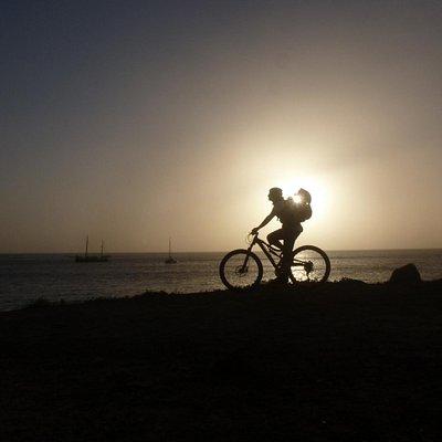 Enjoy the sunset after a ride!