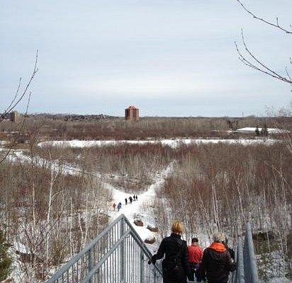 View from the steps leading to the lookout point.