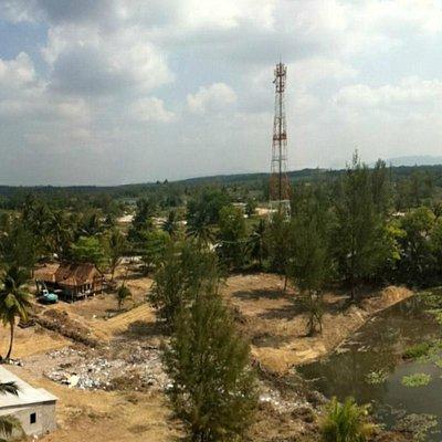 Airial view of Bangsak Beachwalk