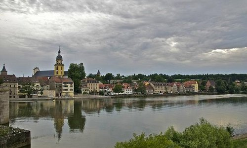 View of the town from accross the river