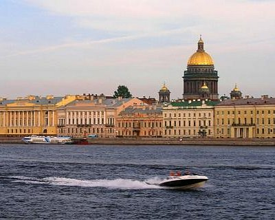 Neva River and St. Isaac's Cathedral