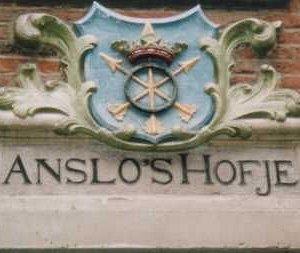 Anslo's Hofje gavlmerket i Egelantierstraat