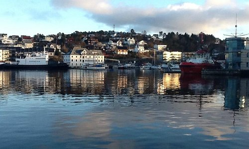 Picture from the harbour, just down the hill from Stord Hotell