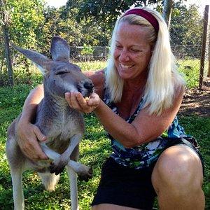 Ruby the Kangaroo is so sweet.
