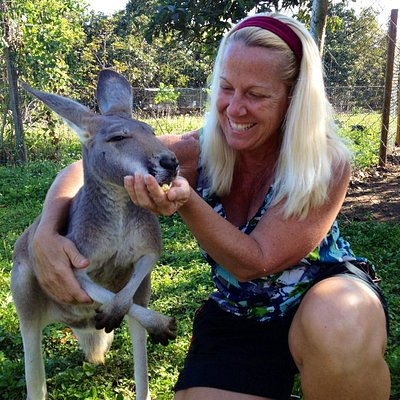 Ruby the Kangaroo is so sweet.