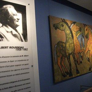 La salle Albert-Rousseau, mezzanine  près de la salle 1