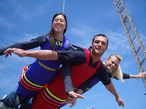 """The Skycoaster """"worlds most amazing ride!"""""""