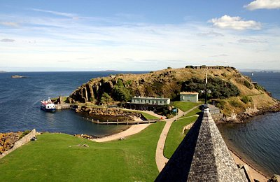 From Inchcolm Abbey tower looking East