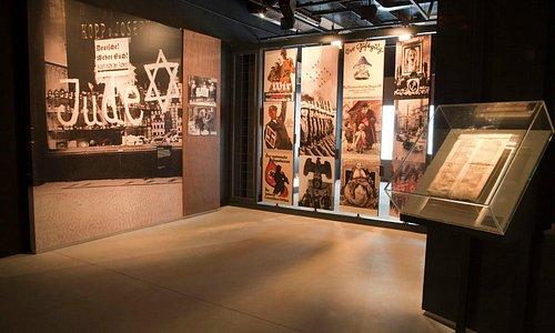 Sala interna do Museu do Holocausto de Curitiba