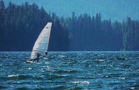 Windsurfing at Odell Lake