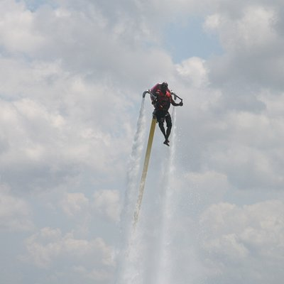 Water jetpack Flying high