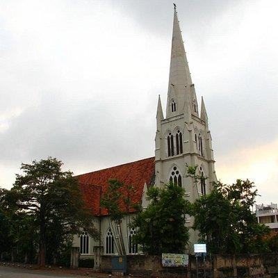 The Church with a slight rainbow on the right