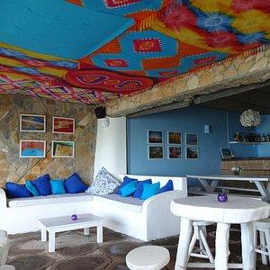 Blue Bar em Baía Formosa at Pousada La Bonita