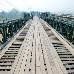 Looking down the Memorial Bridge