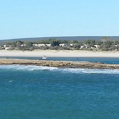 Looking across to the other side of the Murchison near the rivers mouth