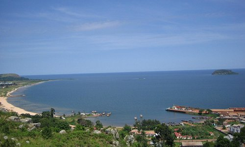 room view of the lake and Bukoba Port