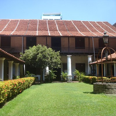 courtyard facing toward the museum
