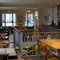 The upstairs seating at the Boston Tea Party