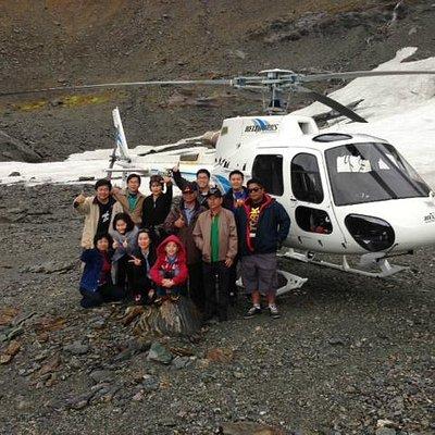 Landing on Mt Larkins