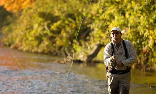 Fly fishing on the Saugeen River, Walkerton