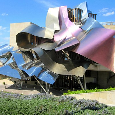 spa is located within the Hotel Marquez de Riscal