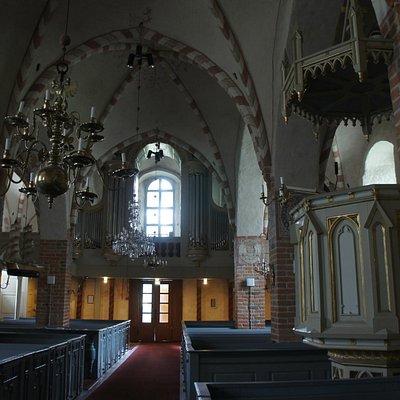 Nagu church, interior.