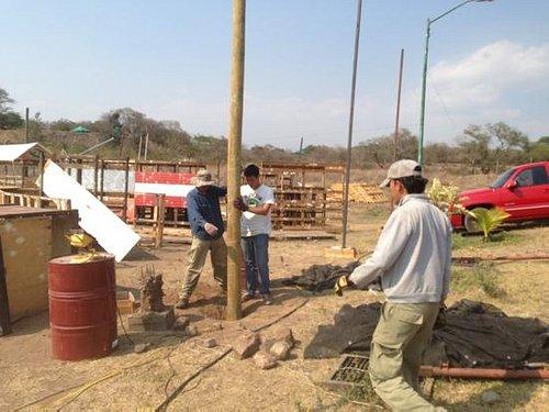 construyendo el muelle