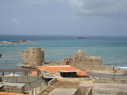 View on the Crusaders Sea Castle