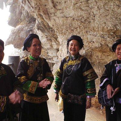Members of the Buyi Singing Troupe