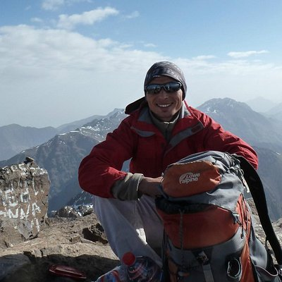 Hassan at the summit of Toubkal