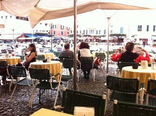 bellissima vista sulla Piazzetta di Portofino