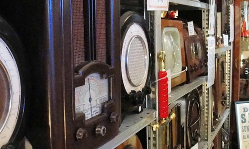 Just a small selection of the radios in the museum