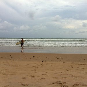 A cloudy day on the beach - dia nublado na praia
