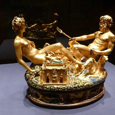 Saliera, Kunstkammer, Museum of Fine Arts (Kunsthistorisches Museum), Vienna,  Marieta-Vienna To