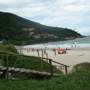 Uma praia maravilhosa em Santa Catarina