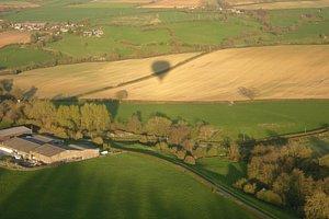 Flying over Bath