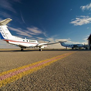 Our King Air B200's on the tarmac