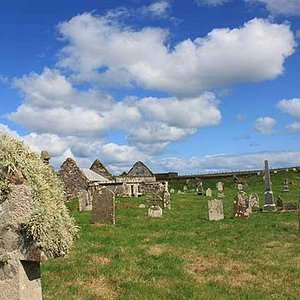 St Columba's (or Ui) Church is a 14th Century ruin sitting within its own Cemetery