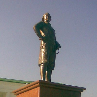 Grigory Potemkin, in front of garden entrance