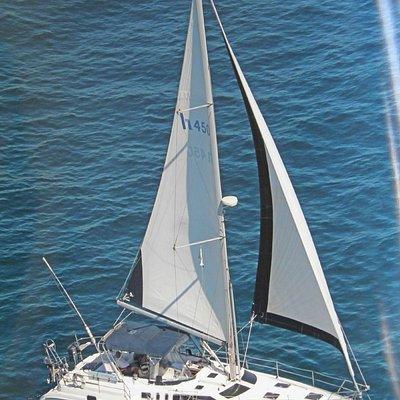 Charade under sail