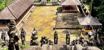 view from pura Penataran Agung lempuyang